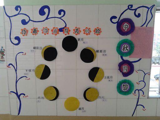 幼儿园中秋展板设计