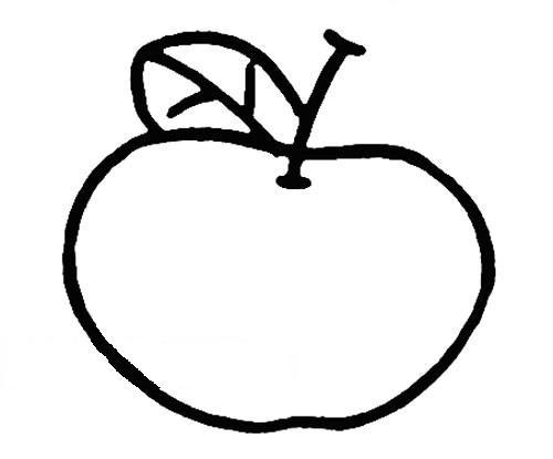 苹果的简笔画