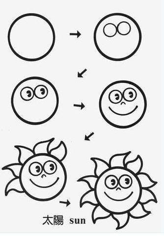 留下教学生简笔画小动物