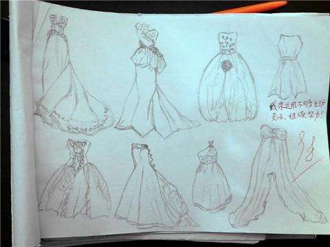 学生作业展---手绘线条图像(三)